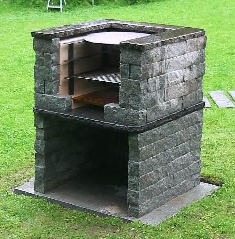 Grilli, Rakennuspaketti – Kivet Graniittiseen Pihagrilliin