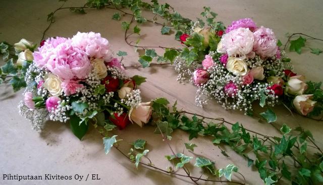 Kukka-asetelmia Rippijuhliin – Tilaustyö