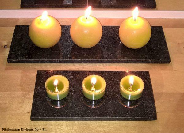 kivialusta kynttilälle