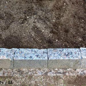 Reunuskivi Korpi Pale Red, 100 X 200 X 150-400 Mm