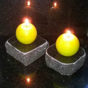 Kynttilänalusta, Musta, Lohkoreunainen, Ilmainen Toimitus
