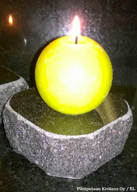 lohkoreunainen kynttilänalusta