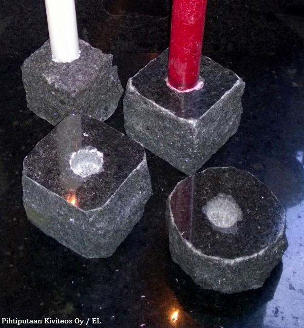 kiviset kynttilänjalat